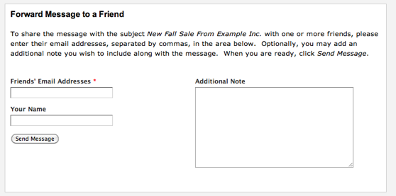 Forward To A Friend webform