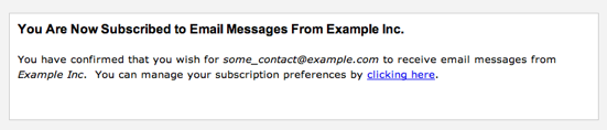Subscription Confirmation Webform