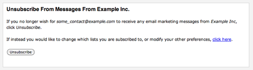 Unsubscribe Webform