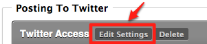 Twitter Edit Settings