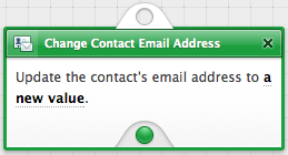 Change Contact Email Address Action Node
