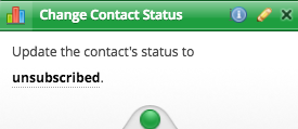 Change Contact Status Action Node