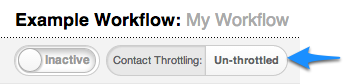 Workflow Contact Throttling Settings
